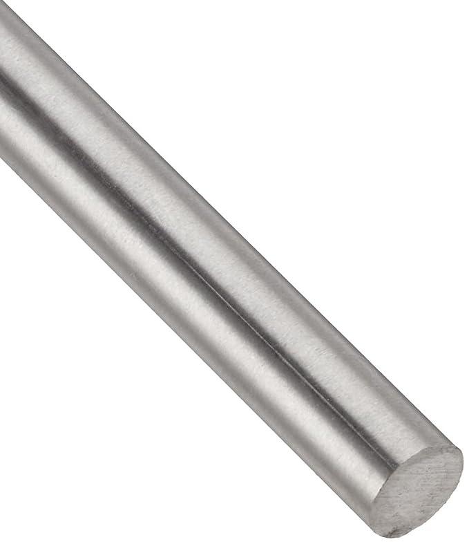 Unpolished MIL T-9047//AMS 4928 Grade 5 Titanium Round Rod Annealed Finish 0.25 Diameter 12 Length Mill