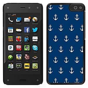 EJOY---Cubierta de la caja de protección para la piel dura ** Amazon Fire Phone ** --Armada Ancla mar marinero Barco