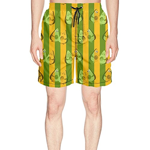Blumed Kittoes Men's Avocado Couple Quick Dry Beach Shorts Swim Trunks by Blumed Kittoes