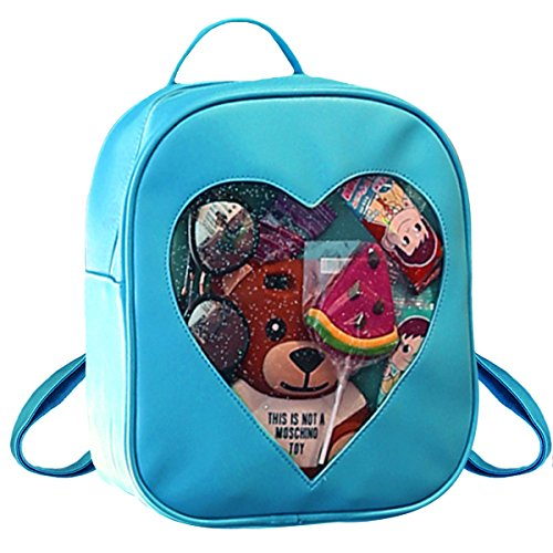 AiSi FS-bb-02703-01Hy - Bolso mochila para mujer verde claro talla única Azul Claro