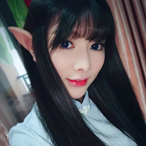 Price comparison product image Fairy Elf Ears Halloween Party Latex Soft Pointed Ear Cosplay Accessories