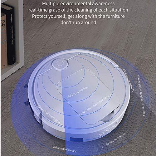 YOLANDE Robot De Balayage Smart Touch Sensing Planifiez Un Itinéraire 6.8 Cm Aspirateur Paresseux De Balayage 2000Mah Aspirateur Robotique À Chargement Automatique Automatique