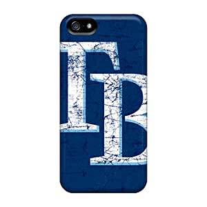 Protector Hard Cell-phone Cases For Iphone 5/5s With Allow Personal Design Stylish Tampa Bay Rays Pattern DannyLCHEUNG