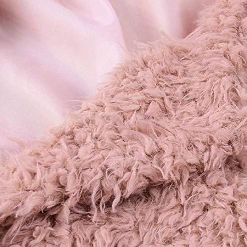 De Chaqueta Chaqueta Rosa Unicolor De Retro Larga Invierno Mujer Piel Adelina Elegantes Otoño Abrigos Sintética Fashion Outerwear Piel Polares Solapa Suave Espesor Termica Manga Largos ORgqHxSwB