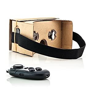Tarjeta de VR 3D Virtual Reality gafas de cartón + Bluetooth Multimedia gampepad para Microsoft Nokia Lumia 830/930 Universal para Smartphones (4A 12,7 cm)