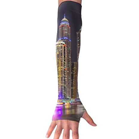 d349af1f34 Amazon.com: Men Women Light Skyscraper Stylish Non Slip Arm Sleeves UV  Protection Cooling Arm Warmer Long Sleeve Glove For Outdoor Sports Unisex:  Sports & ...
