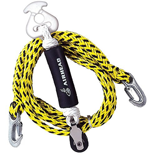 Airhead Tow Harness Self-Centering Pulley, 12', Black and Yellow Centering Pulley
