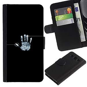 LECELL--Cuero de la tarjeta la carpeta del tirón Smartphone Slots Protección Holder For Samsung Galaxy S3 III I9300 -- Huella digital identidad --