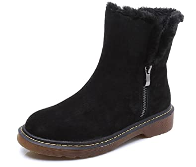 JIYE Women s Snow Boots Winter Shoes Genuine Leather Wool Inside ce6725ca1