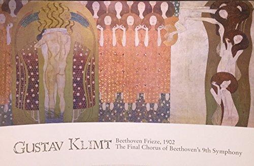 Beethoven Frieze Klimt (Gustav Klimt Beethoven Frieze Decorative Fine Symbolist Art Poster Print (FRAMED 24X36))