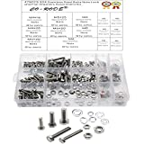CO RODE M4 M5 M6 Stainless Steel Hex Head Bolts Nuts Washers Screws Assortment Kit - 304 Stainless Steel