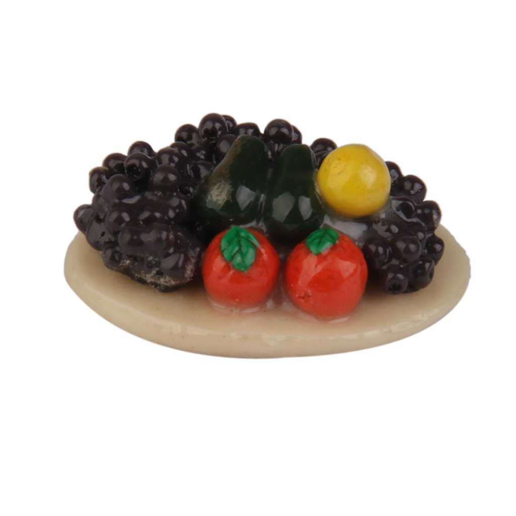 yeah67886 Creative Mini 1: 12 Puppenhaus Miniatur Colorful Fruits Teller