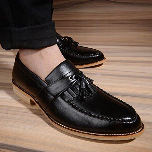 da da Scarpe punta uomo estiva pelle da in Moda britanniche uomo nappe Scarpe casual matrimonio d'affari a GAOLIXIA Nero lavoro Scarpe con per Scarpe Scarpe OxqAw05wH