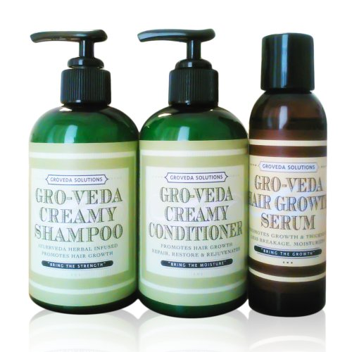 Groveda Fast Hair Growth Oil, Shampoo and Conditioner for Women & Men Hair Growth, Hair loss