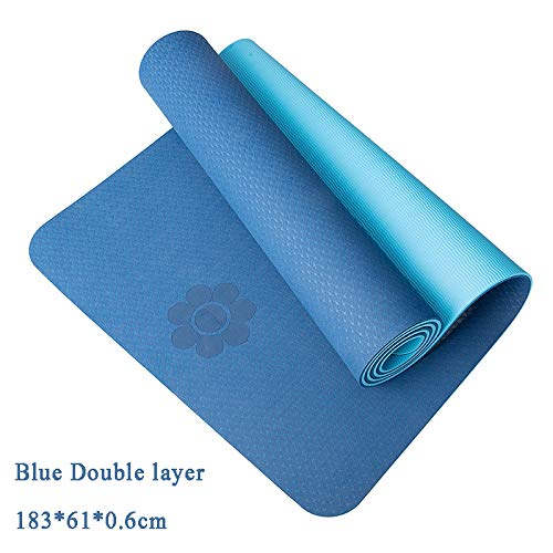 Multi  YOOMAT 6 8MM Extra Thick Non-Slip Foam Yoga Mats Libre sacs for Fitness Tasteless Pilates Gym Exercise Pads with Yoga Strap 183cmX61cm