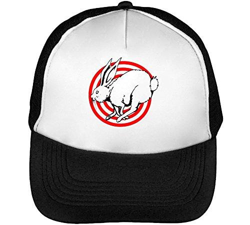 Bunny Beisbol Negro Bullseye Blanco Hombre Gorras Snapback rvqr6Rw