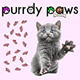 Purrdy Paws 100-Pack Soft Nail Caps For Cat Claws PINK GLITTER MEDIUM