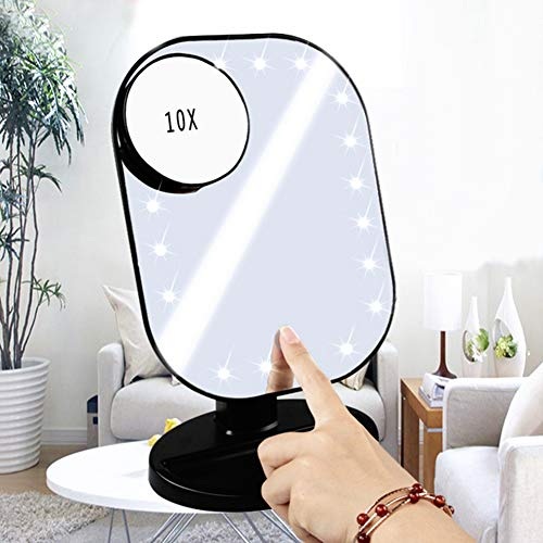 Gsdviyh36 10X Anti-Fog Suction Cup Bathroom Shower Makeup Shaving Mirror Pores Magnifier -