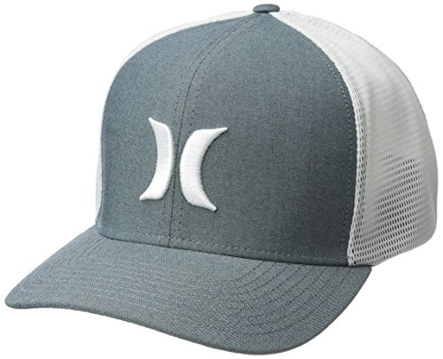 Hurley Men's Black Textures Baseball Cap, Ocean Bliss//White, S-M (Surfing Baseball Caps)