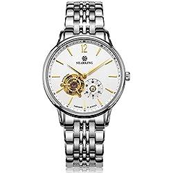 STARKING Men's AM0213SS11 Automatic Skeleton Subdial Analog Display Stainless Steel Bracelet Dress Watch