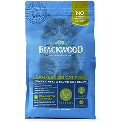Blackwood Pet Adult Dry Cat Food Made In USA [Super Premium Adult, Indoor, and Senior Cat Food], Chicken Meal and Brown Rice Recipe