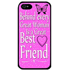 Cover for Iphone 4 Best Friends Saying quote pink love heart art Gift Phone case