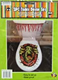 2 Piece Halloween Toilet Lid Cover Creepy Green Monster with Hands