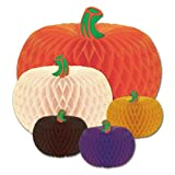 Kitchen & Housewares : Beistle 5-Pack Packaged Designer Tissue Pumpkins, Assorted