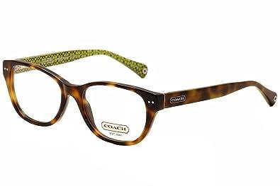 e9fb429088878 Amazon.com  COACH HC 6029 Eyeglasses 5040 Tortoise Demo Lens 51-17 ...