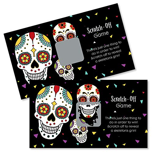 Activity Day Halloween Party (Big Dot of Happiness Day of the Dead - Halloween Sugar Skull Party Game Scratch off Card - 22)