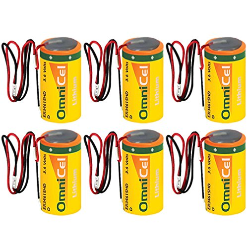 6x OmniCel ER34615HD/W High Drain Lithium Thionyl Chloride Battery by Exell Battery