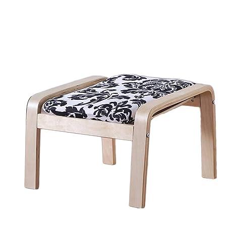 Amazon.com: Taburete de madera maciza para mesa de té, para ...