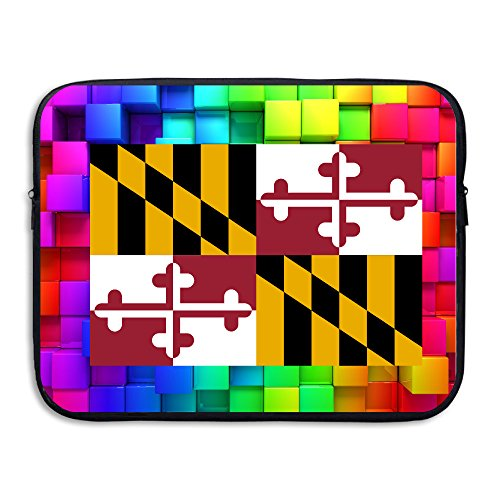 [Kamifa Computer Sleeve Double-sided The State Of MARYLAND Laptop Sleeve Bag Black Size15 Inch] (Tony Hawk Halloween Costume)