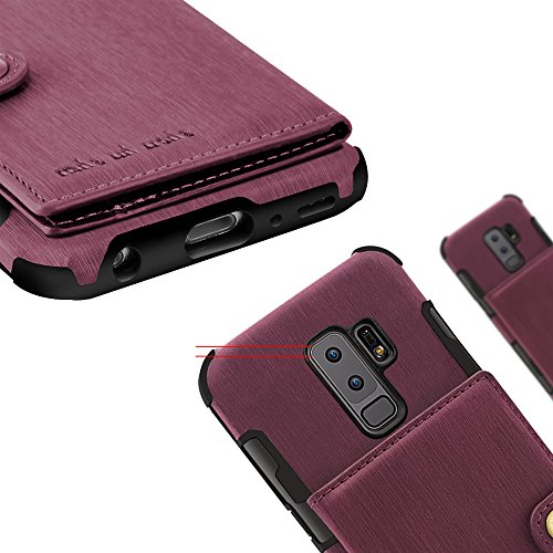 Galaxy Samsung Phone S8 Protective Plus Cover Card Case Slim Leather for Holder Khaki Back Credit Wallet with S8 Case PU IpqtxwpC