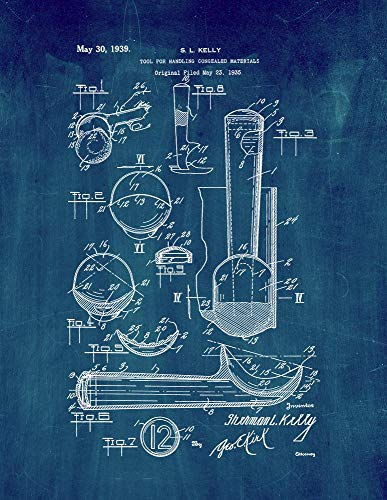 Ice Cream Scoop Patent Print Midnight Blue (5