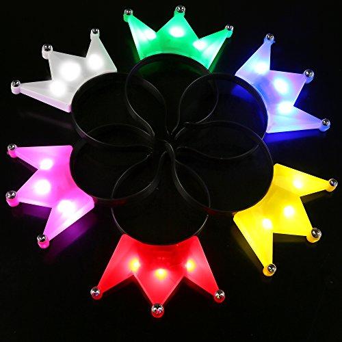 - Fun Central BC732 12pcs LED Crown Headband, Royal Crown, Princess Crown, Gold Crown, Crown Women, Crown Men, The Crown, Royal Crown, Crowns, LED Headband, Light up Headband -Assorted
