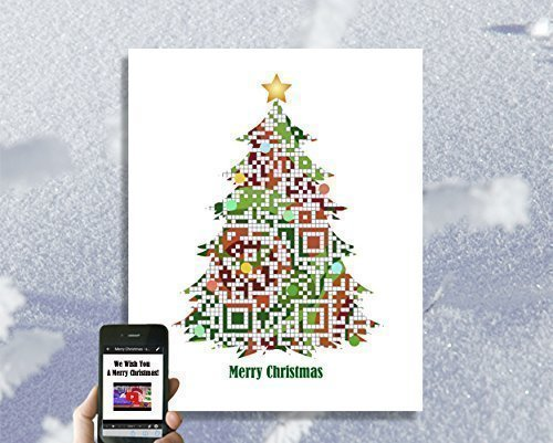 personalized tech qr code christmas card 2017 merry christmas custom holiday card personalized
