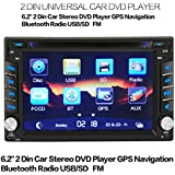 AMA(TM) 6.2 Double 2Din In Dash Bluetooth Car Stereo Radio Touch Screen DVDGPS Navigation Player MP3 In Dash, Wireless Remote