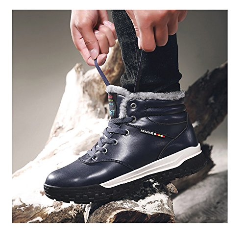 Arke Mens Stivaletti Completamente In Fodera In Pelle Impermeabile Scarpe Sportive In Pelle Lace Up Sneakers Invernali Per Outdoor / Sport / Casual / Daily / Trekking / Winter Navy Blue
