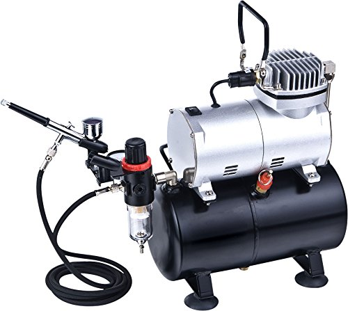 ABEST Complete Professional Airbrush Compressor Kit with Air Tank for Nails...
