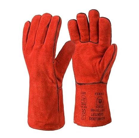 Guante de superior soldadores Gauntlet (GL016) - viene con rhinotec guantes recubiertos de poliuretano: Amazon.es: Bricolaje y herramientas