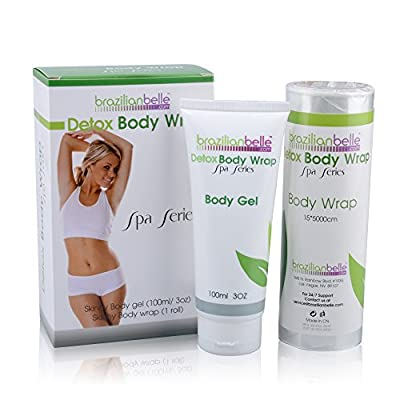 Brazilian Detox Body Wraps | Complete Weight Loss & Toning System | New & Improved with Garcinia Cambogia, Green Tea, & Infused with Vitamins (8 Applications)