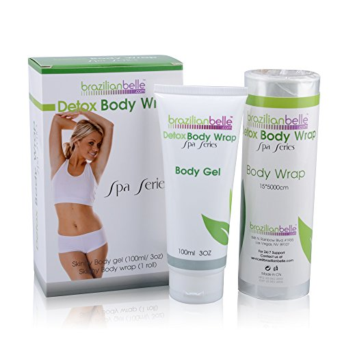 Brazilian Detox Body Wraps | Complete Weight Loss & Toning System | New & Improved with Garcinia Cambogia, Green Tea, & Infused with Vitamins (8 Applications) (Thigh System Toning)