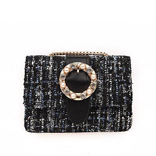 Aoligei Version coréenne de sac bandoulière unique mode tendance du sac avec Sac ceinture cent tours de diamant A
