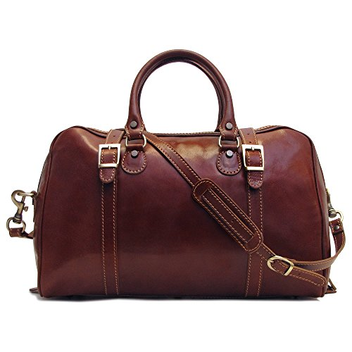 Floto Luggage Trastevere Duffle Travel Bag, Vecchio Brown, Medium by Floto