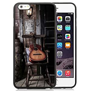Beautiful Unique Designed iPhone 6 Plus 5.5 Inch Phone Case With Old Guitar On Chair_Black Phone Case
