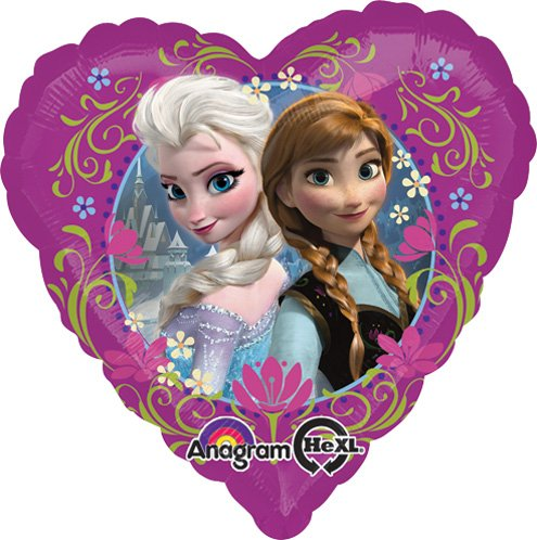 LoonBallon Disney Frozen Love Balloon, Standard Foil Balloon, 5 Pieces