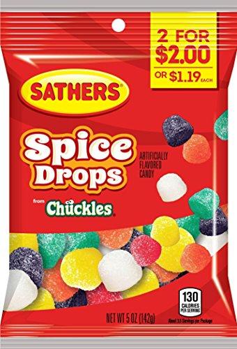 Sathers Spice Drops Gummy Candy, Sassafras/Clove/Spearmint/Cinnamon/Anise/Peppermint, 5 Ounce (Pack of (Clove Gum)