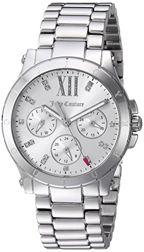 Juicy Couture Women's 'HOLLYWOOD' Quartz Stainless Steel Casual Watch, Color:Silver-Toned (Model: 1901588)