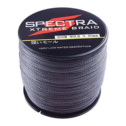 Spectra Extreme Braid Braided Fishing Line 6-300LB Test 100m-2000m Gray...